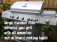 large stainless steel infrared gas grill with all  Valrico, 33594