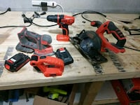 red and black power tools Brampton, L6R 0W2