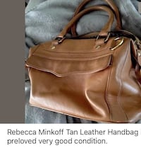 REBECCA MINKOFF TAN HANDBAG PRELOVED CONDITION WITH BEAUTIFUL GOLD TONE HARDWARE. Other sites have this bag in same condition at $210. Dust bag included. Palmetto, 34221