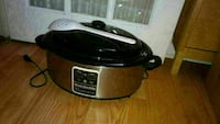 black and gray slow cooker
