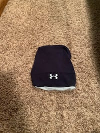 Navy Blue and White Under Armour Beanie