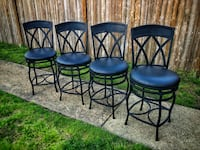 Counter height swivel metal chairs