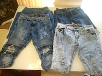 two blue denim jeans and black denim jeans Suitland-Silver Hill, 20746
