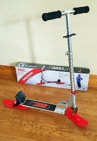 RAILZ Youth Snow Kick Scooter Red, Black, & Silver With Box