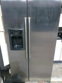 stainless steel side-by-side refrigerator with dispenser Virginia Beach, 23464
