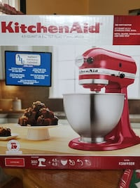 white and red Kitchen Aid stand mixer box Thomasville, 17408