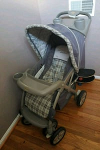 baby's gray and black stroller Sterling, 20164