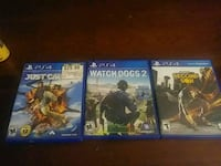 three assorted PS4 game cases 857 km