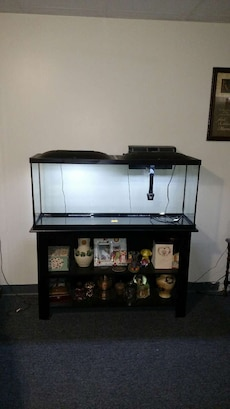 55 gal tank led hood stand and accessories in dodge city for 55 gallon fish tank led light hood
