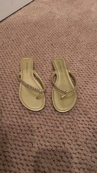 pair of gold leather flip flops Ashburn, 20147