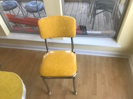 1950 style dining table and 4 chairs