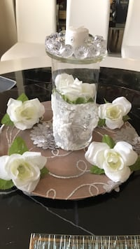 Handcrafted glass centerpiece