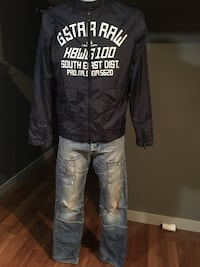 Men's Small-Med Gstar jacket and jack&Jones 30w Jeans  Grande Prairie, T8V