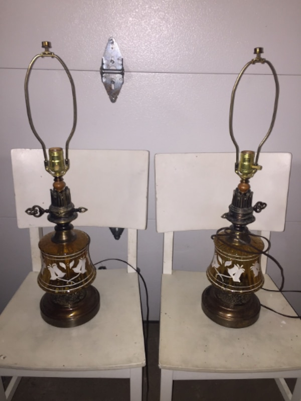 Pair of Old Table Lamps