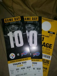 Steelers tickets with parking bills