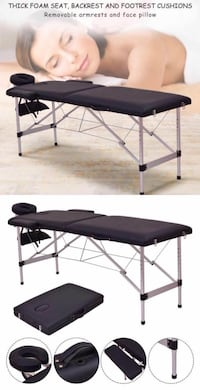 New in box 72 inches aluminum foldable portable spa massage tattoo parlor bed  Los Angeles, 90032