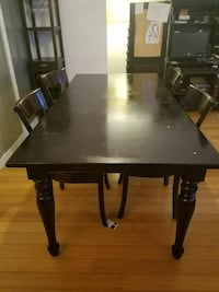 Crate & Barrel table and 4 chairs