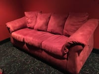 Red microfiber couch 7 feet long by 3 feet wide. Pet free smoke free house in good shape pick up in Goodlettsville