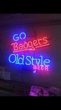go badgers old style beer neon signage San Antonio, 78251