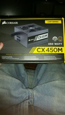 PC power supply, brand new, CX 450M CORSAIR