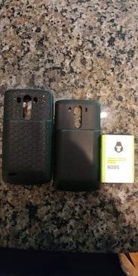 two black phone cases and battery Strongsville, 44136