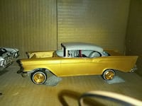 classic 1957 chevy Belair copper coupe scale model