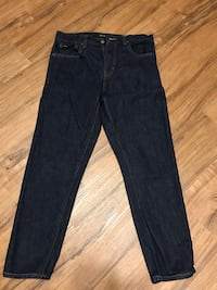 blue denim straight-cut jeans Newport Beach, 92660
