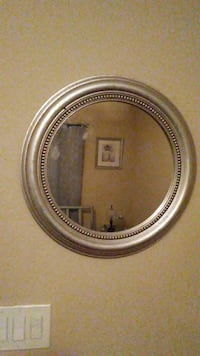 round gray wall frame wall mirror