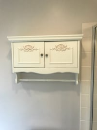 Ivory shabby chic wall cabinet null