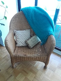 brown and black fabric sofa chair Westmount