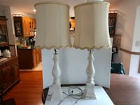 Matching table lamps with shades
