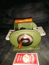 VINTAGE-1950S JOHNSON CARD SHUFFLER-NESTOR JOHNSON MFG. CO., CHICAGO Indian Head, 20640