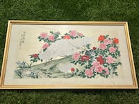 Asian Art- White and red floral tapestry with peacock Northglenn, 80260