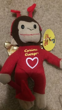 brown and red monkey plush toy Tampa, 33617