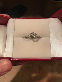 14kt white gold halo engagement ring setting Spring Hill, 34610
