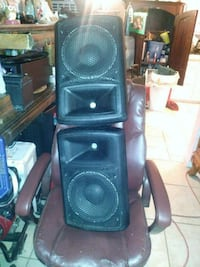 black and gray PA speaker Los Angeles, 91343
