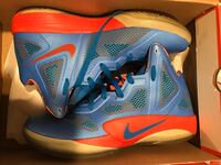 Pair of blue-and-orange Nike Zoom in box Islip, 11706