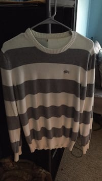 white and black stripe long-sleeved shirt Waterford, 06385