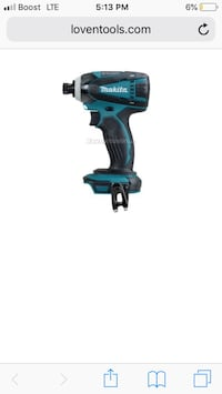 Green and black makita cordless impact driver with 18 volt slim battery all brand new never used  Las Vegas, 89102