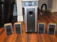 Toshiba Surround Sound Speakers and Subwoofer London