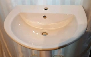 White Brand New Pedestal Sink