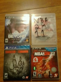 four assorted PS3 game cases Chicago, 60629