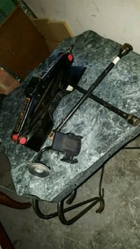 black and gray compound bow 39 km