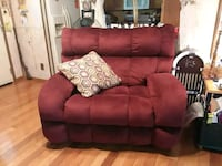 red leather 3-seat sofa Rogersville, 37857