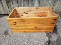 VERY NICE HOMEMADE STAINED WOODEN PLANTER BOX