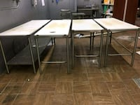rectangular white wooden table with four chairs dining set Newark, 07103