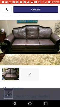High end top grain leather sofa and loveseat Vaughan, L4L 8N7