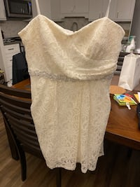 White Lace Strapless Dress with Silver Beading Toronto, M6N 4X5
