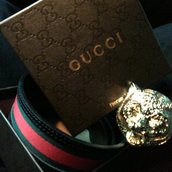 6180c8bf41b Green And Red Gucci Belt With Gold Buckle In Houston