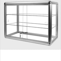 Glass cases with lock
